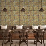 Tin Tile Grunge Wallpaper Room Settings