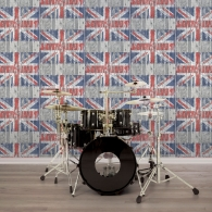 Union Jack Grunge Wallpaper Room Setting