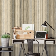 Bamboo Organic Textures Wallpaper Room Setting