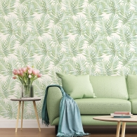 Speckled Palm Organic Textures Wallpaper Room Setting
