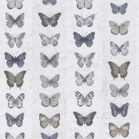 Jewel Butterflies Stripe Organic Textures Wallpaper
