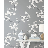 Chinoiserie Tree Paper & Ink Wallpaper  Room Setting