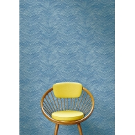 Chevron Wash Maya Wallpaper Room Setting