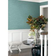 Aqua Faux Grasslands Texture Gallery Wallpaper Room Setting