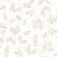 Fossil Leaf Toss Evergreen Wallpaper