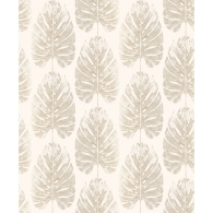 Leaf Stripe Evergreen Wallpaper
