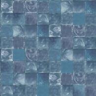 Aqua Tile Evergreen Wallpaper