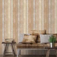 Waterfall Stripe Evergreen Wallpaper Room Setting