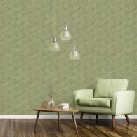 Grassy Tile Evergreen Wallpaper Room Setting