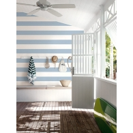 Nautical Stripe Paper & Ink Wallpaper Room Setting