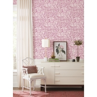 Flamingo Flamboyance Conservatory Wallpaper Room Setting