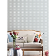 Rattan Overlay Lattice Conservatory Wallpaper Room Setting