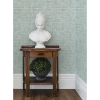 Papyrus Weave Conservatory Wallpaper Room Setting