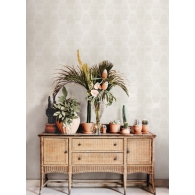 Congas Stripe Conservatory Wallpaper Room Setting
