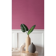 Magenta Faux Coastal Hemp Texture Gallery Wallpaper Room Setting