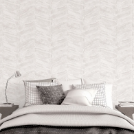 Chevron Ambiance Wallpaper Room Setting