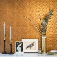 Original Derby Anaglypta Wallpaper Room Setting