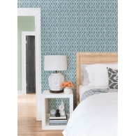 Dyed Ogee Small Prints Resource Library Wallpaper Room Setting