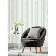 French Linen Stripe Stripes Resource Library Wallpaper Room Setting