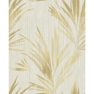 Palm Leaf Stripe Maya Wallpaper
