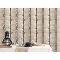 Bark Stripe Bazaar Wallpaper Room Setting