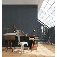 Moss Stripe Bazaar Wallpaper Room Setting
