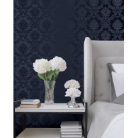 Classic Damask Simply Silks 4 Wallpaper Room Setting