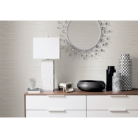 Refined Stria Metallic FX Wallpaper Room Setting