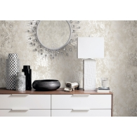 Textured Splatter Metallic FX Wallpaper Room Setting