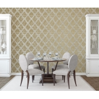 Damask Metallic FX Wallpaper Room Setting