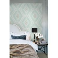 Charleston Classical Trellis Wallpaper Room Setting