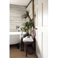 Charleston Washed Wood Wallpaper Room Setting