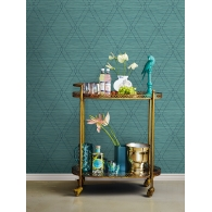 Charleston Diamonds Wallpaper Room Setting