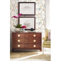 Southport Floral Trail Lillian August Luxe Retreat Wallpaper Room Setting