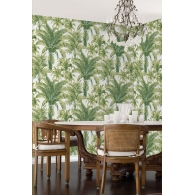 Charleston Palms Wallpaper Room Setting