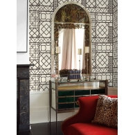 Charleston Trellis Wallpaper Room Setting