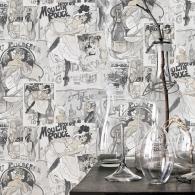 Champagne Posters Nostalgie Wallpaper Room Setting