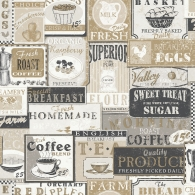 Enamel Signs Nostalgie Wallpaper