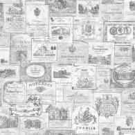 Wine Labels Nostalgie Wallpaper