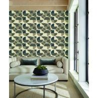 Radius Geometric Resource Library Wallpaper Room Setting