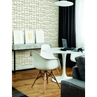 Modern Perspective Geometric Resource Library Wallpaper Room Setting