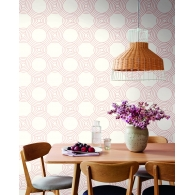The Twist Geometric Resource Library Wallpaper Room Setting