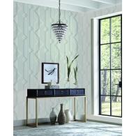 Shape Shifter Geometric Resource Library Wallpaper Room Setting