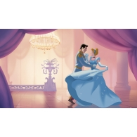 Disney Princess Cinderella So This Is Love Prepasted XL Sized Ultra-strippable Wallpaper Mural