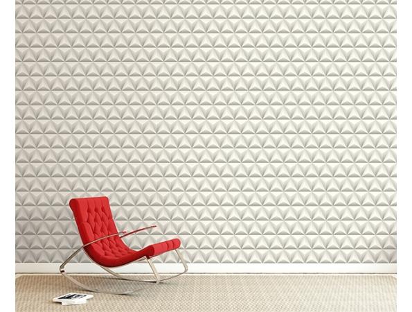 Triangles 3D Wallpaper Room Setting