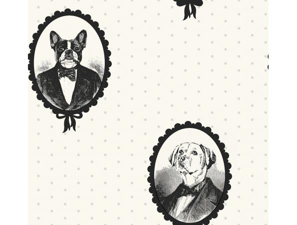 Dog Portrait Cameos Wallpaper