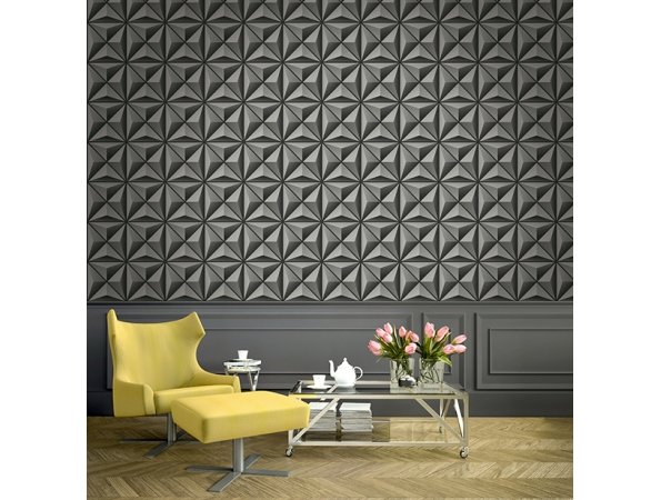 Flower Panel Wallpaper Room Setting
