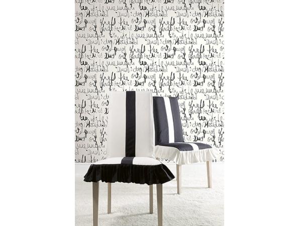 Calligraphy Wallpaper Room Setting