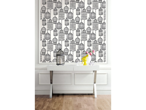 Bird Cages Wallpaper Room Setting