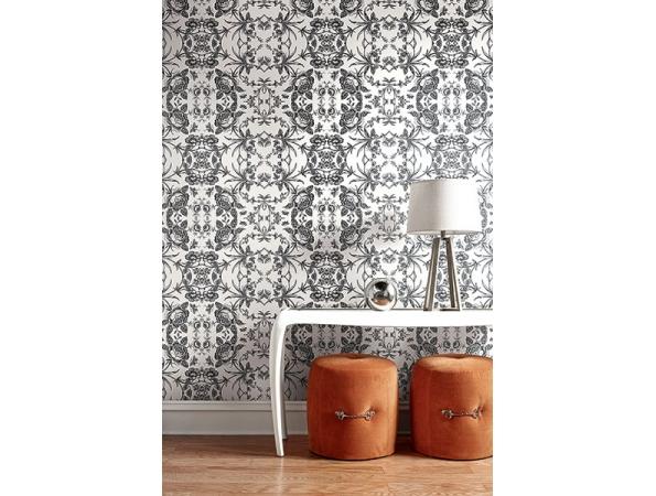 Rose Kaleidoscope Wallpaper Room Setting